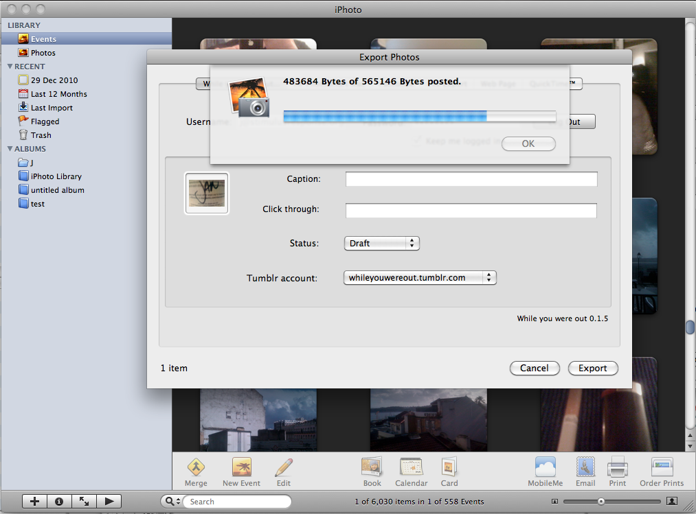 while you were out - iPhoto tumblr plugin